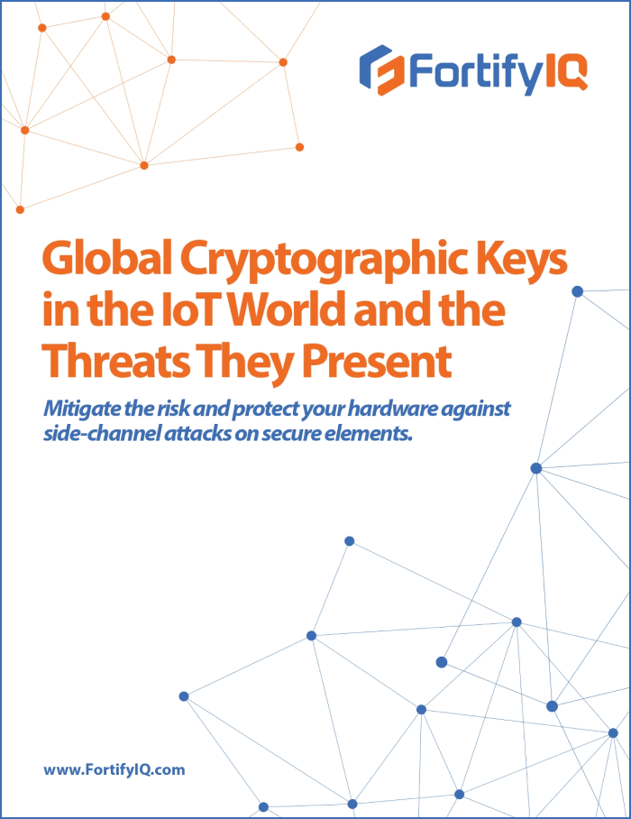 Global crypto keys in the IoT world and the threats they present