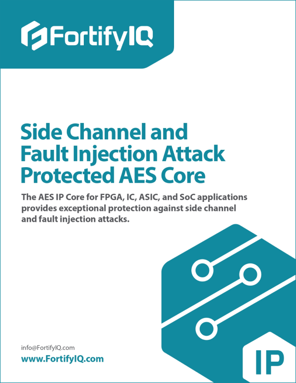 Side-Channel Attacks Protected AES Core whitepaper cover